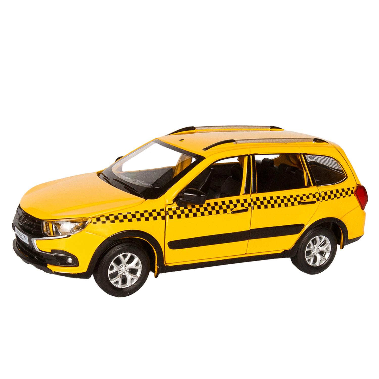 Купить Машинка металлическая ТМ Автопанорама LADA GRANTA CROSS ТАКСИ 1:24 JB1251204,
