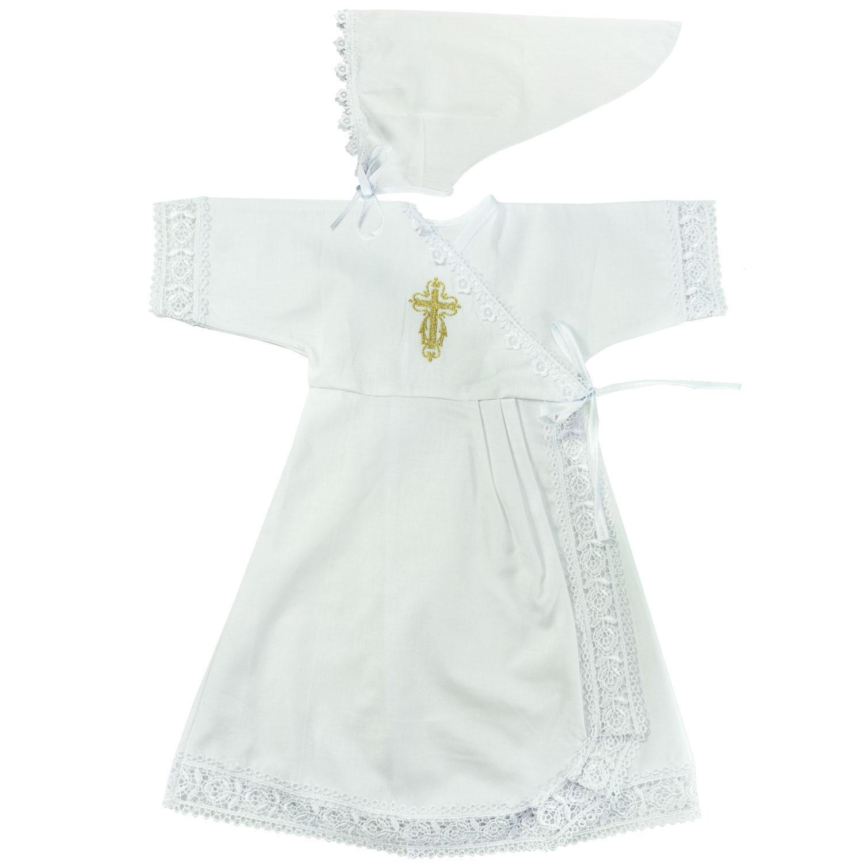 Купить 1308, Крестильный набор для девочки Папитто, вышивка золото, размер 24, рост 80-86 см,