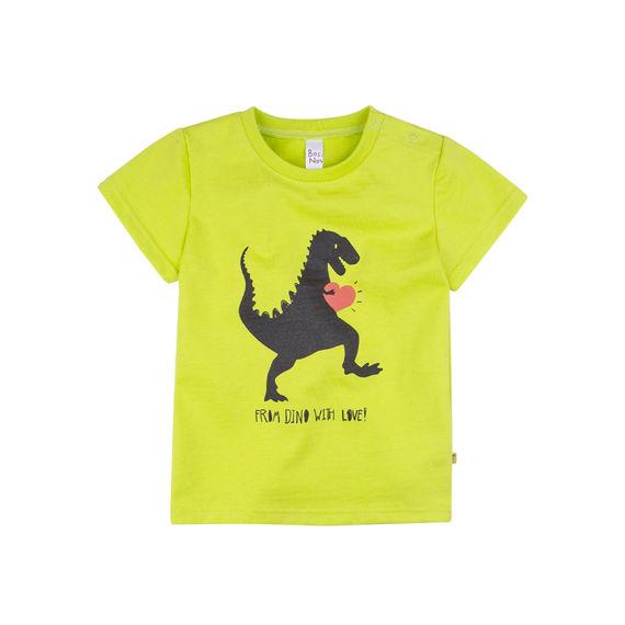 Купить 259В21-161, Футболка для мальчика Bossa Nova Динозавр (цвет: салатовый, рост 98 см),