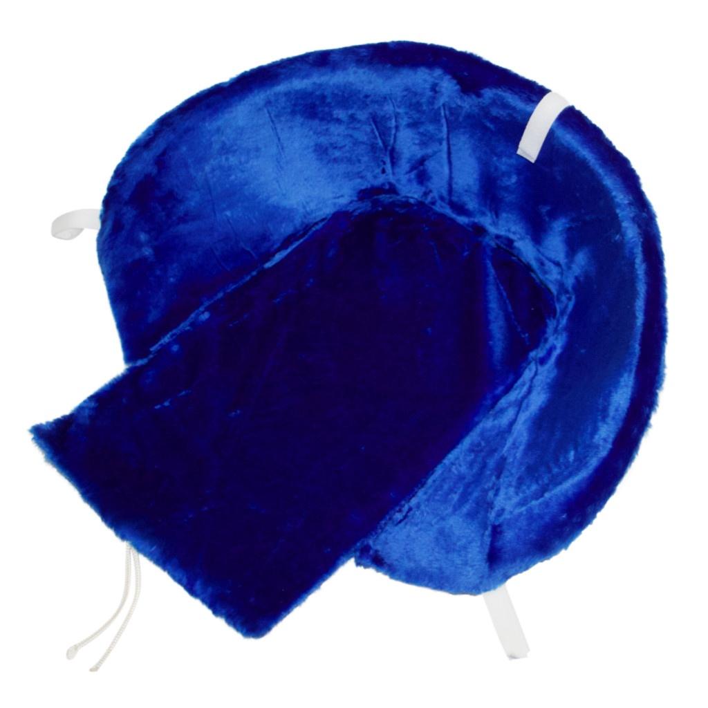 Матрасик для санок RT (меховой) Синий, длинный