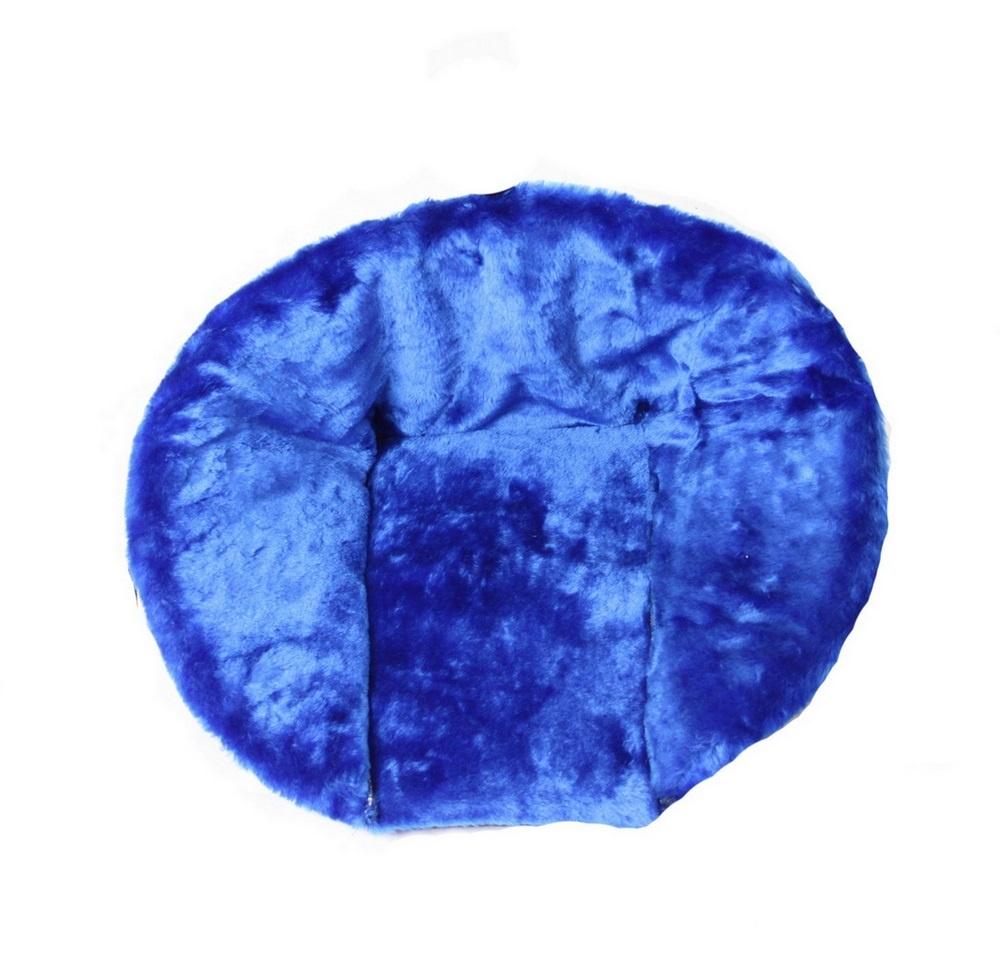 Матрасик для санок RT (меховой) Синий, короткий