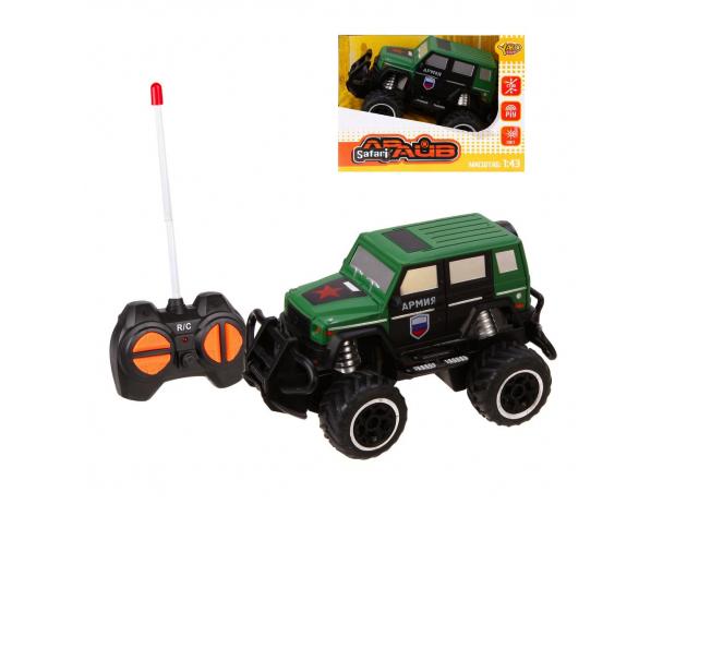 Купить Радиоуправляемая машинка Наша Игрушка Военный джип, 4 канала, M6492, зеленый, Наша игрушка,
