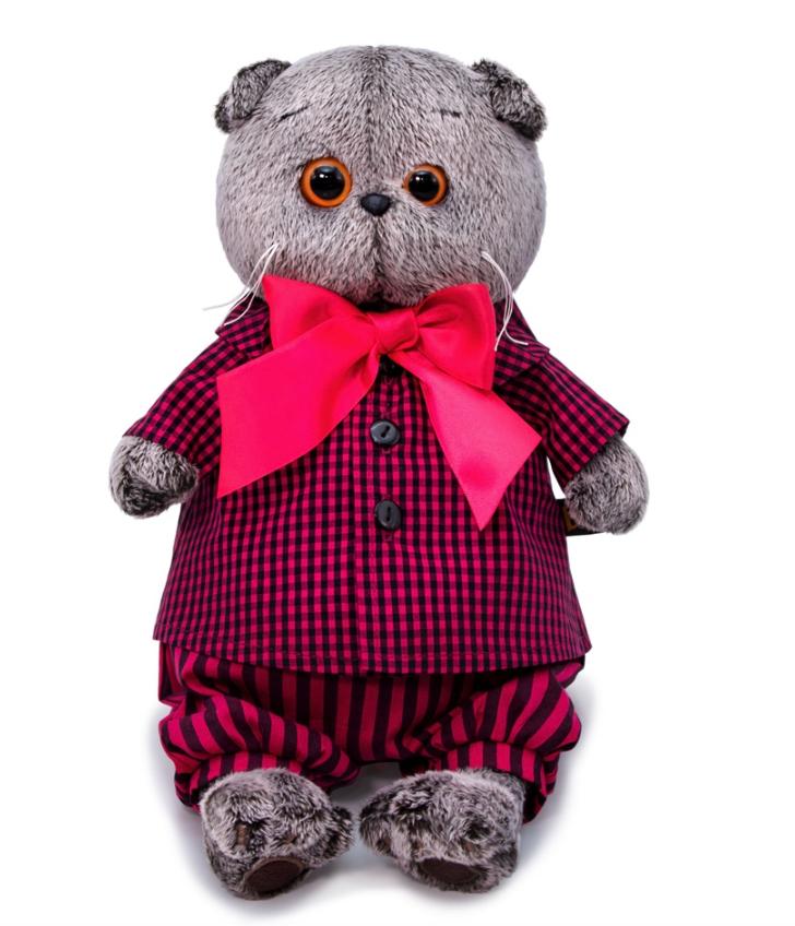 Мягкая игрушка Basik&Ko Басик в рубашке и штанах, 25 см BUDI BASA