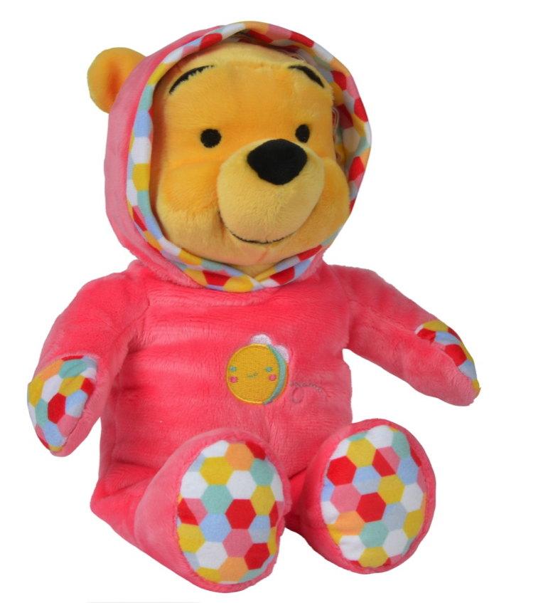 Мягкая игрушка Nicotoy Медвежонок Винни в комбинезоне 25 см.