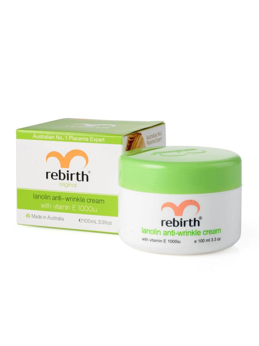 Купить Rebirth Крем против морщин с витамином Е и ланолином, 100 мл, С витамином Е и ланолином