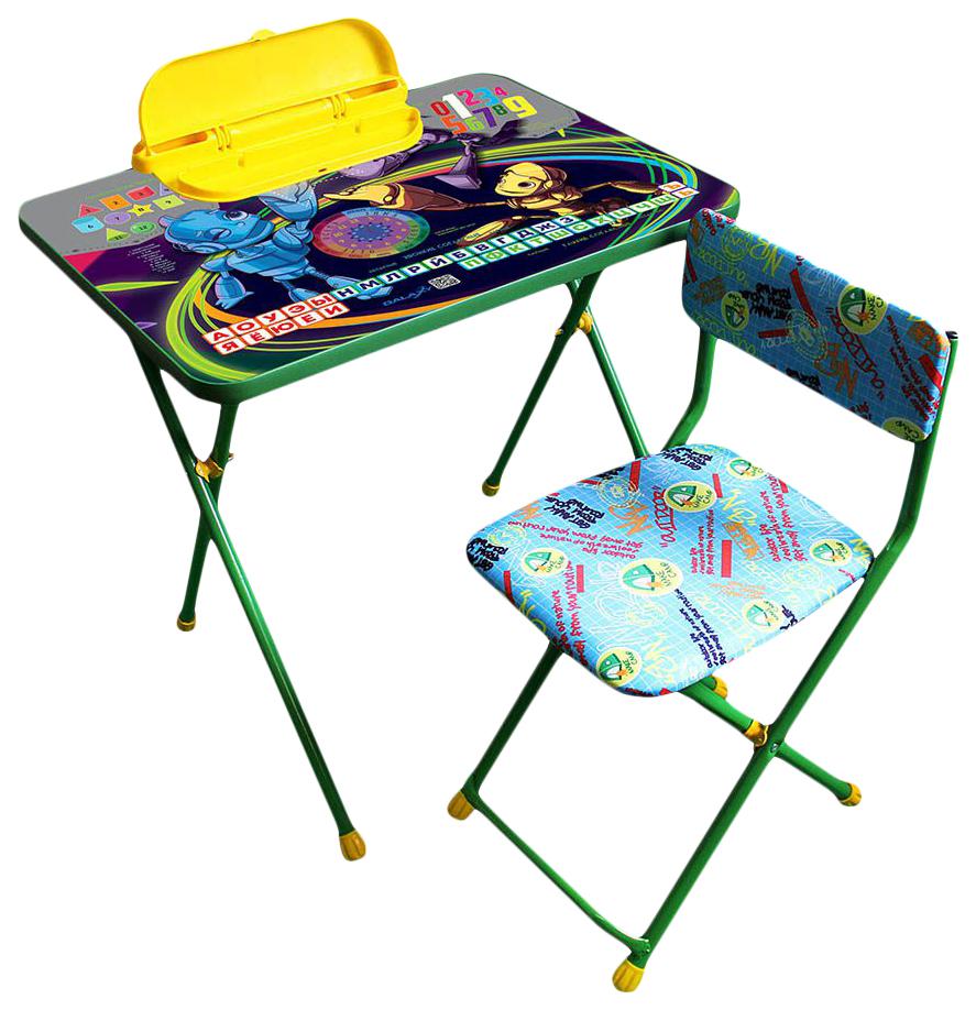Купить Комплект детской мебели Galaxy Роботы стол с пеналом стул зеленый,