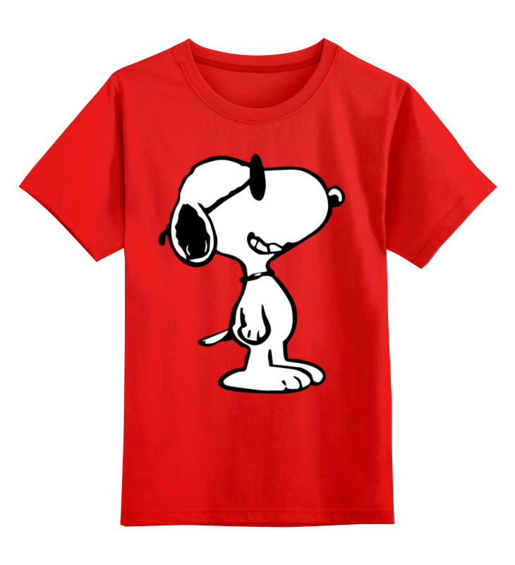 Купить 0000001761945, Детская футболка Printio Снупи цв.красный р.104,