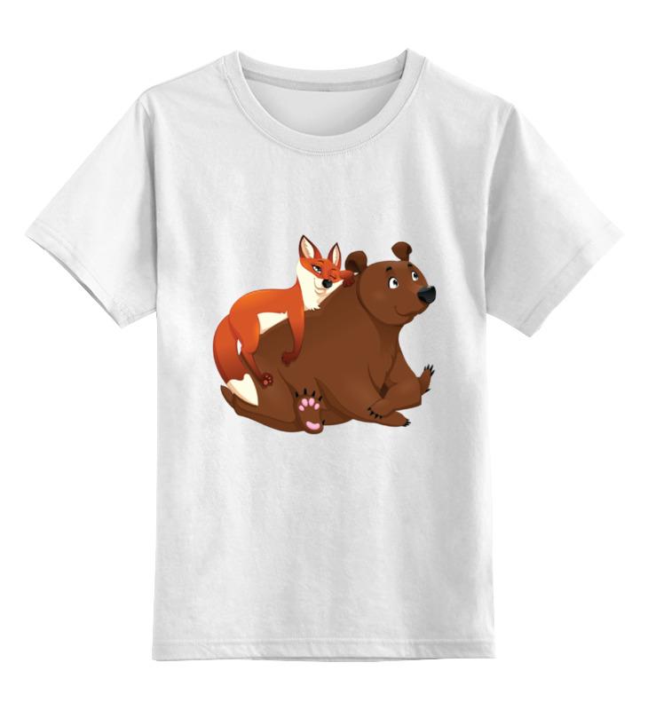 Детская футболка Printio Забавные животные цв.белый р.104 0000002041424 по цене 790