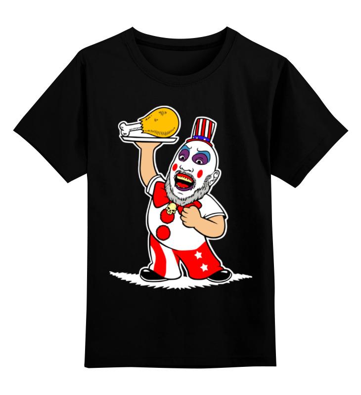 Детская футболка Printio Капитан сполдинг  captain spaulding  цв.черный р.104 0000002067308 по цене 990