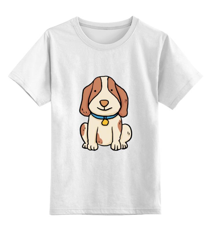 Детская футболка Printio Щенок цв.белый р.104 0000002076304 по цене 790