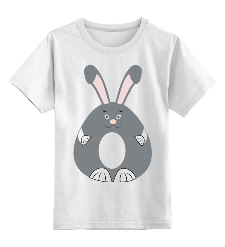 Детская футболка Printio Заяц с розовыми ушами цв.белый р.104 0000002170100 по цене 790