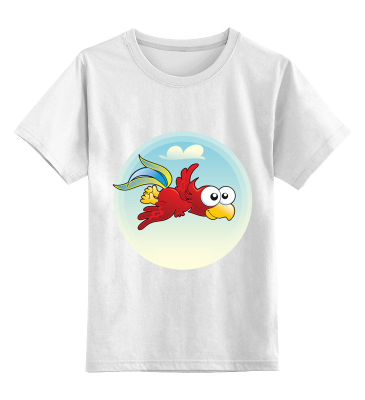 Детская футболка Printio Попугай кеша цв.белый р.104 0000002173469 по цене 790