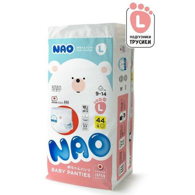 Купить Подгузники-трусики NAO L (9-14 кг) 44 шт,