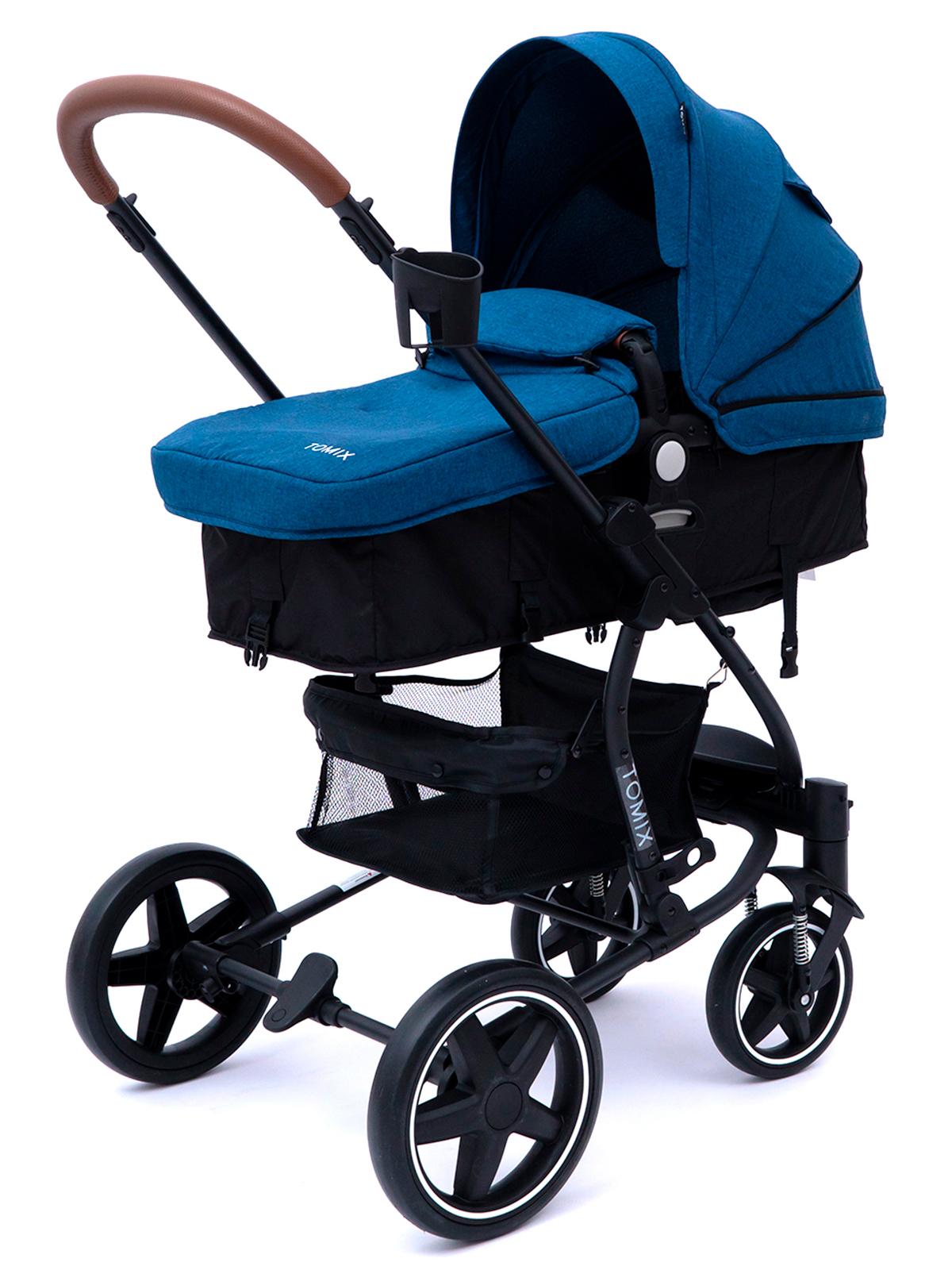 Детская коляска-трансформер 2 в 1 Tomix Emily, синяя
