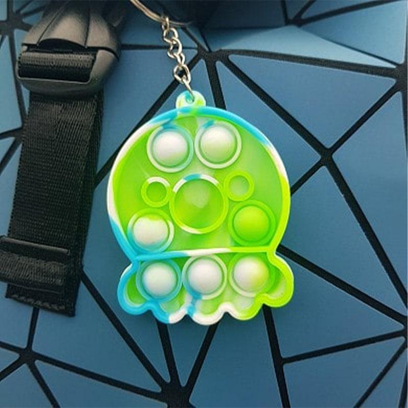 Игрушка-антистресс брелок Pop It для ключей и рюкзака бесконечная пупырка, осьминожка