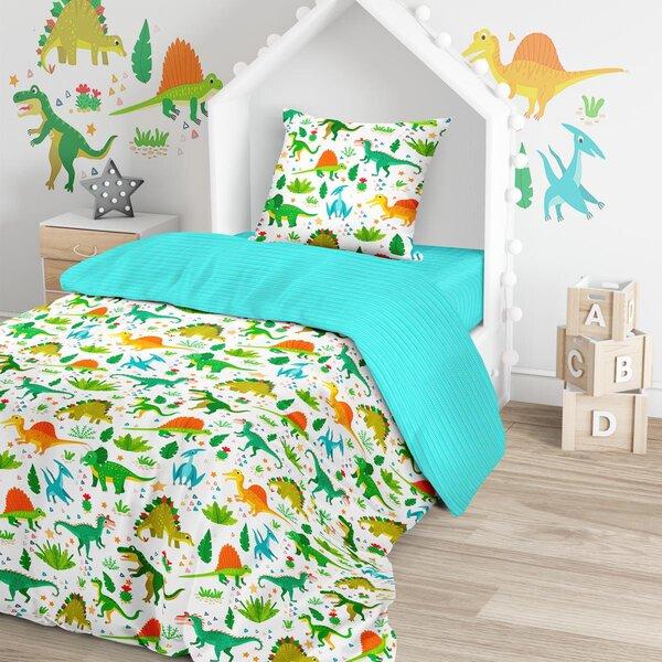 Купить Комплект постельного белья Тейковский ХБК Juno (70х70) Дино 1, 5-спальный,