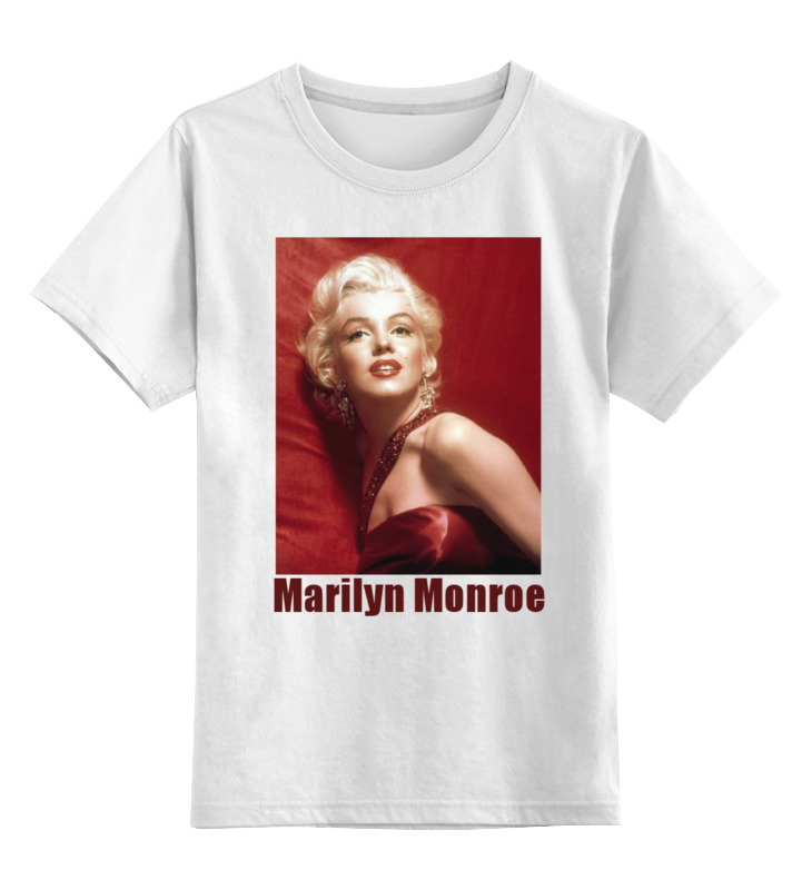 Детская футболка Printio Marilyn monroe red цв.белый р.104 0000001757896 по цене 790