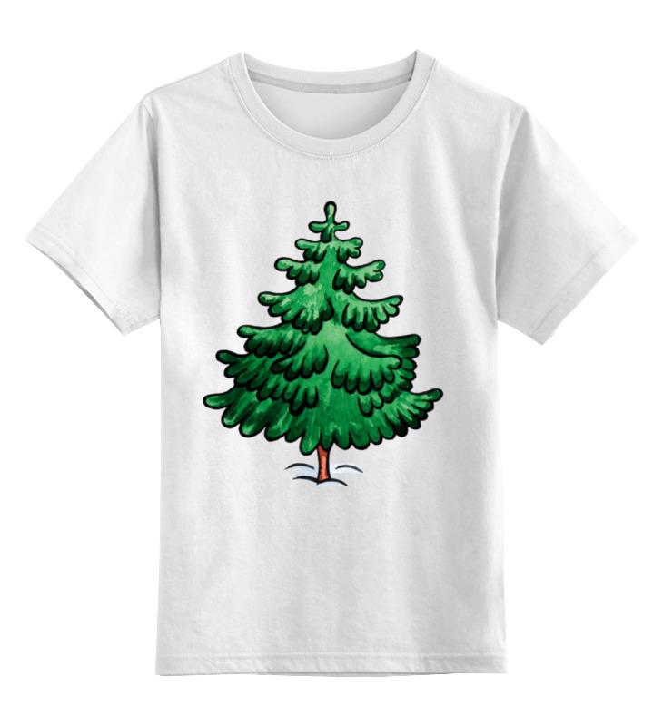 Детская футболка Printio Зеленая ель цв.белый р.104 0000001758463 по цене 790