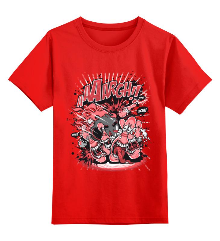 Купить 0000002214089, Детская футболка Printio Зубастики цв.красный р.104,