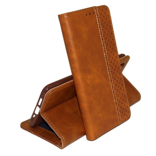 Кожаный чехол книжка Business Wallet с визитницей для Samsung Galaxy A21s (Коричневый) Epik