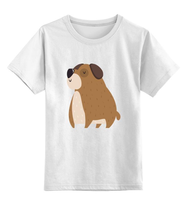 Детская футболка Printio Собачка цв.белый р.164 0000002209982 по цене 790