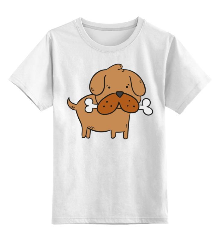 Детская футболка Printio Собачка цв.белый р.164 0000002279460 по цене 790