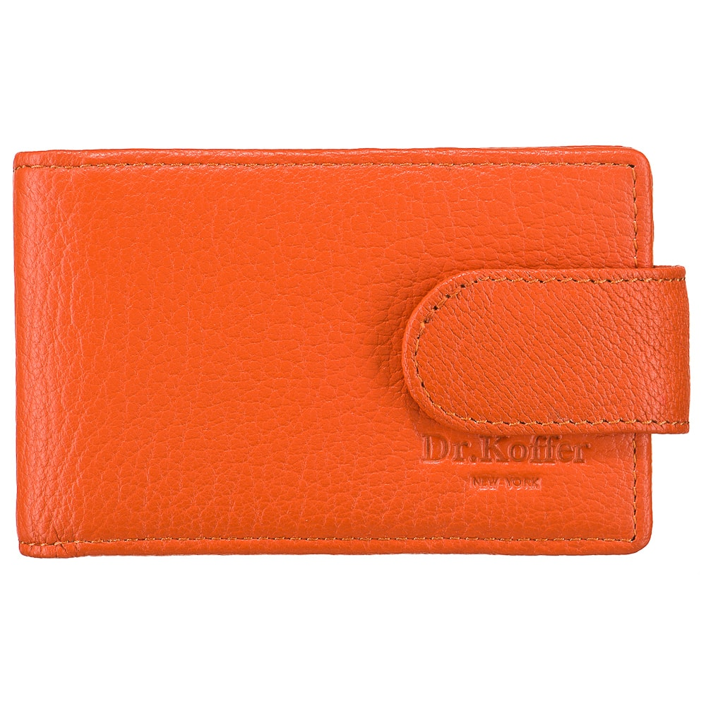 Визитница женская Dr.Koffer X510151-170 оранжевая фото