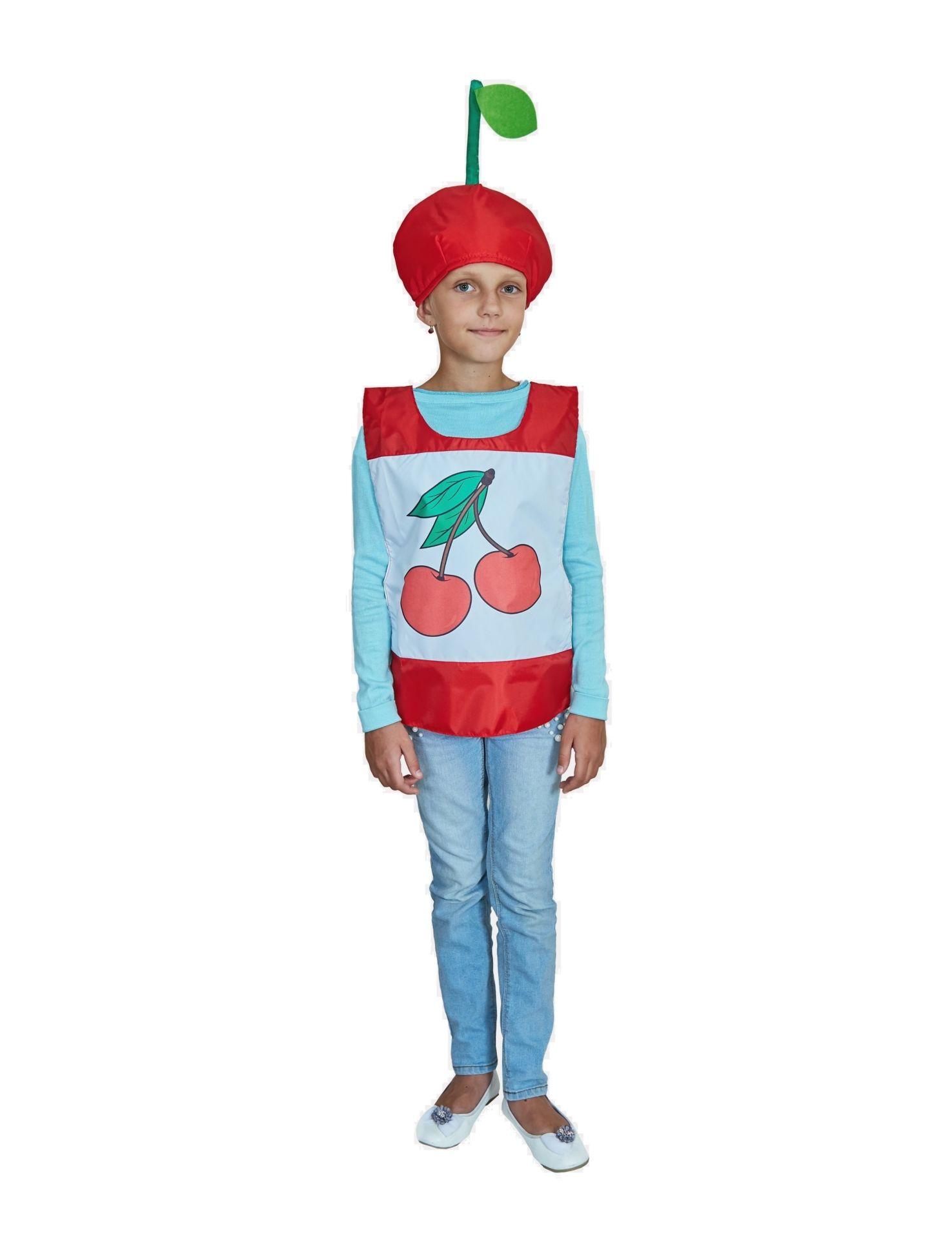 Карнавальный костюм Учитель Вишенка, цв. красный р.134