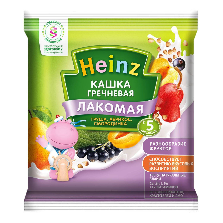 Каша молочная Heinz Гречневая грушка, абрикос, смородинка
