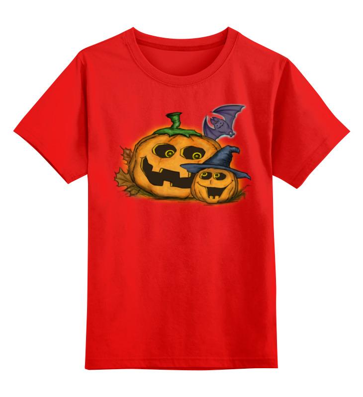 Купить 0000002268742, Детская футболка Printio Тыква цв.красный р.104,