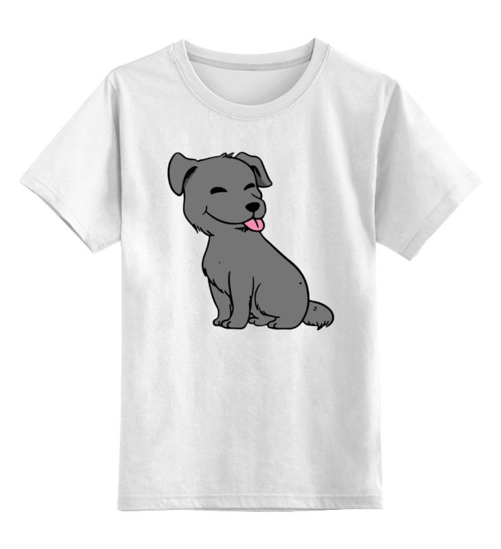 Детская футболка Printio Веселый щенок цв.белый р.104 0000002279505 по цене 790