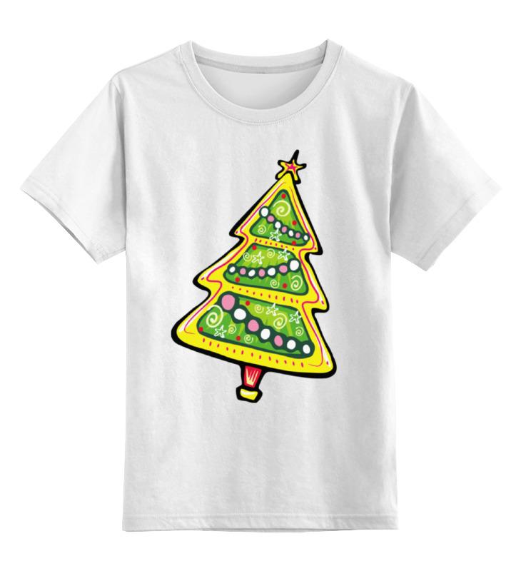 Детская футболка Printio Красочная елка цв.белый р.164 0000001758461 по цене 790
