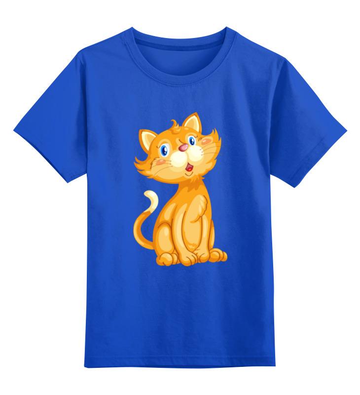 Детская футболка Printio Рыжий кот цв.синий р.164 0000002054758 по цене 990