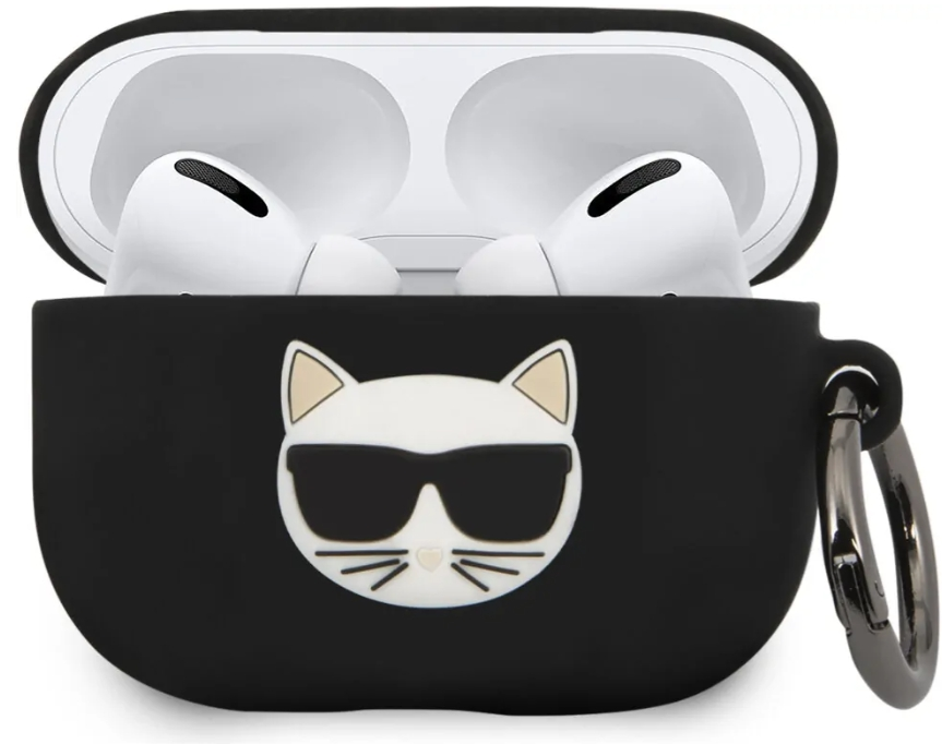 Чехол Karl Lagerfeld Silicone Case для AirPods Pro Black