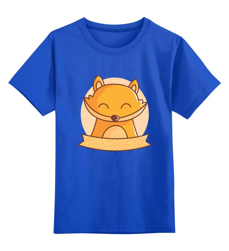 Детская футболка Printio Спящий лисенок цв.синий р.164 0000002059822 по цене 990