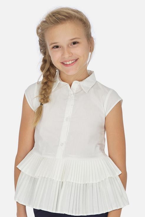 Блузка Mayoral для девочек, цв. бежевый, р-р 162 12185999_бежевый