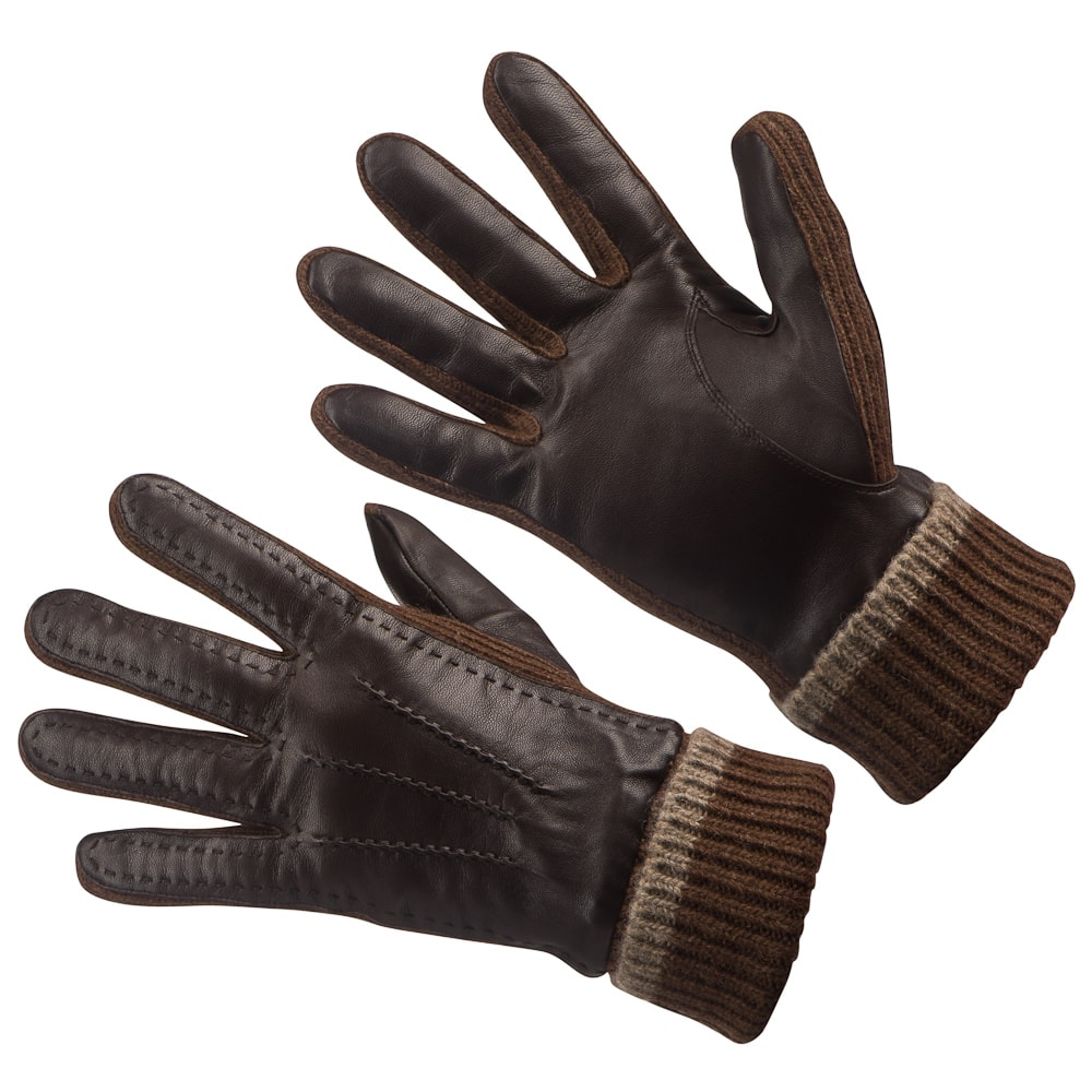 Перчатки мужские Dr.Koffer DRK-U19-09 коричневые 8,5 фото