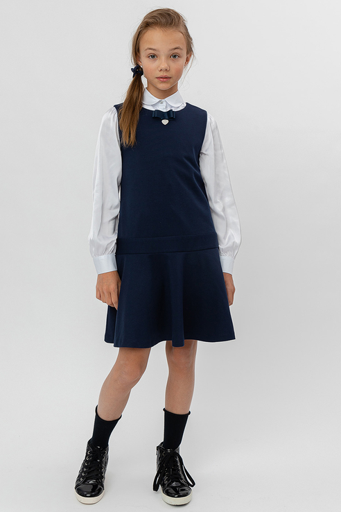 Купить 12193785_синий, Сарафан Button Blue для девочек, цв. синий, р-р 140,