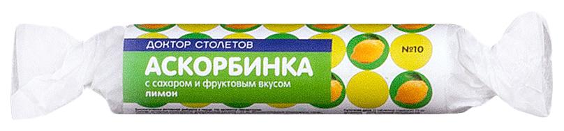 Купить Аскорбинка с сахаром Лимон, PL Аскорбинка с сахаром таблетки Лимон 10 шт., Экофарм