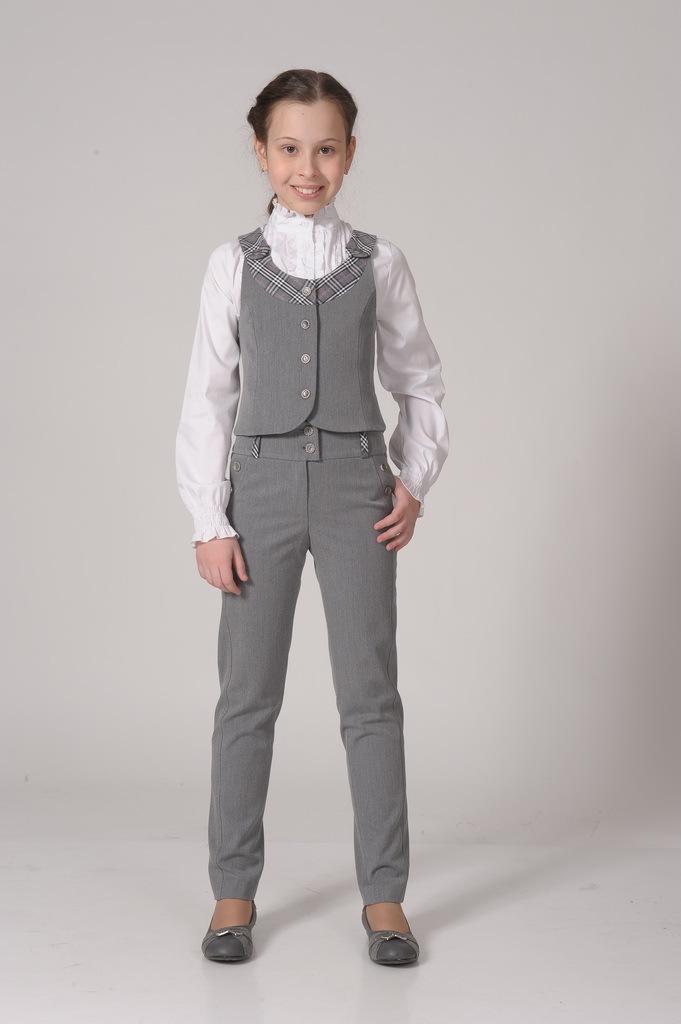 Купить Школьные брюки SkyLake ШФ-131 Диана цв. серый, р. 36/146, Брюки для девочек