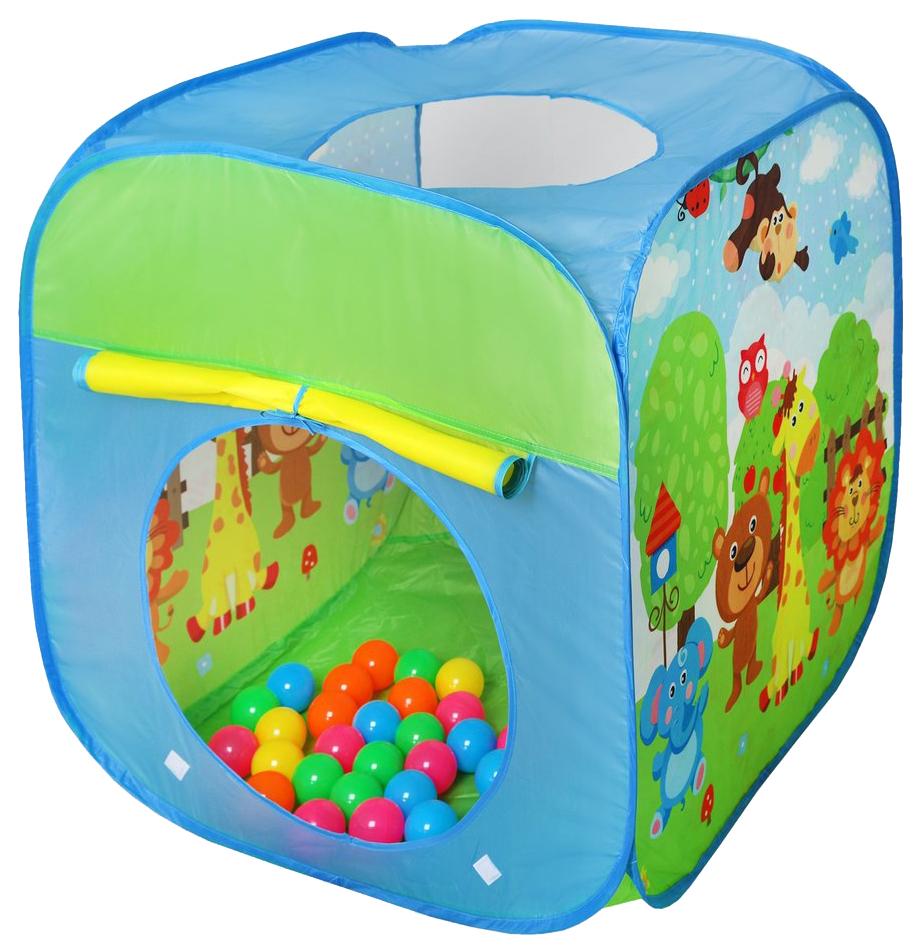 Купить Палатка игровая Наша Игрушка 79x74x74 см пластмассовые шарики 50 штук, Наша игрушка,