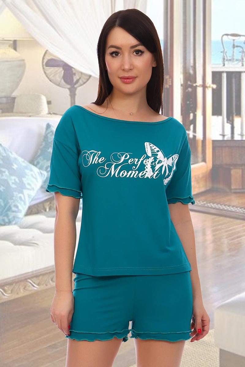 Домашний костюм женский КаВиТекс Идеальная женщина бирюзовый 42
