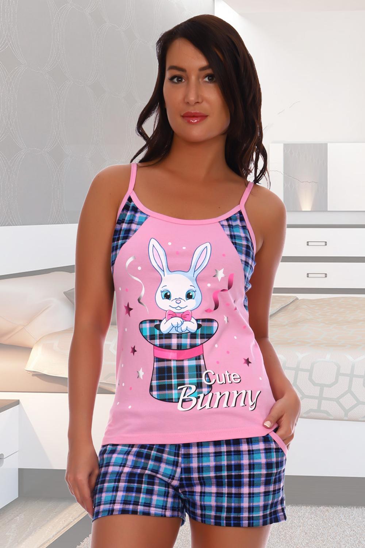 Домашний костюм женский КаВиТекс Зайчонок розовый 44