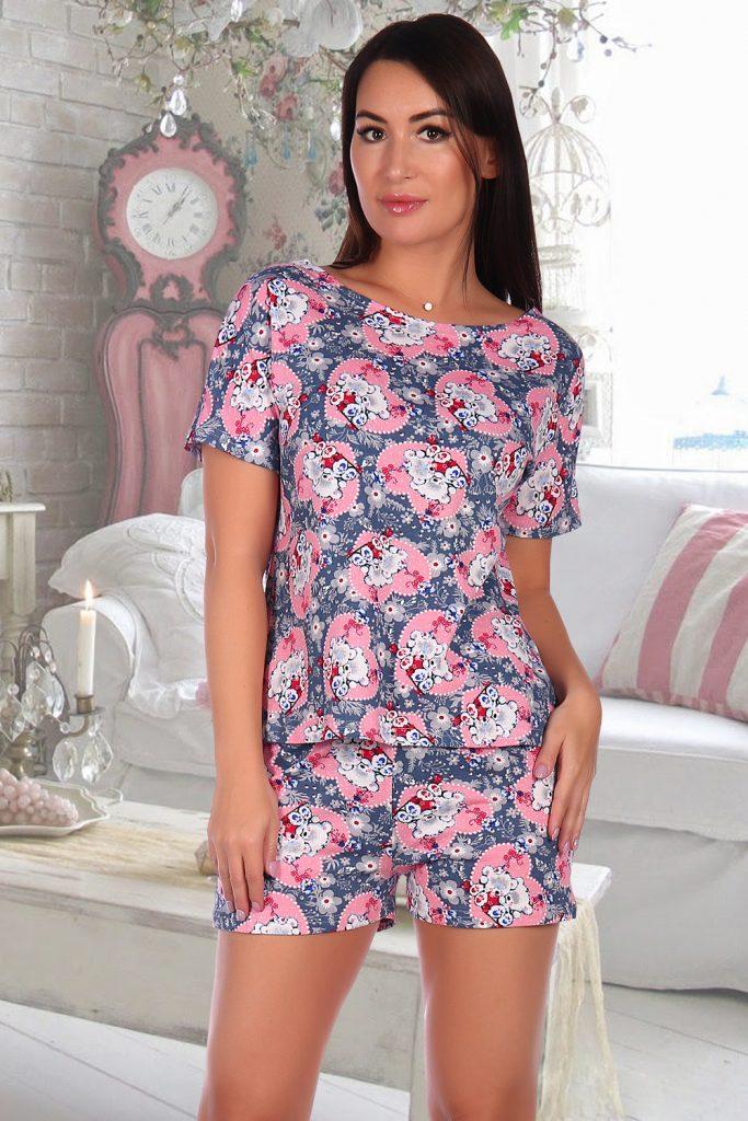 Домашний костюм женский КаВиТекс Умка разноцветный 52
