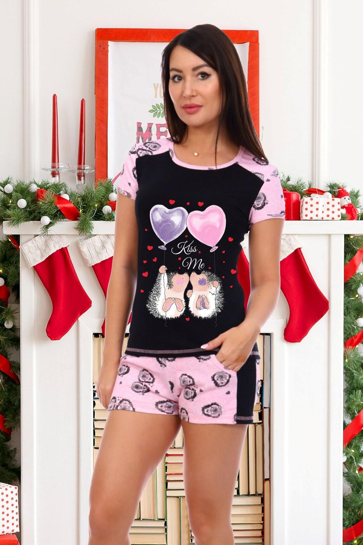 Домашний костюм женский КаВиТекс Kiss розовый 44