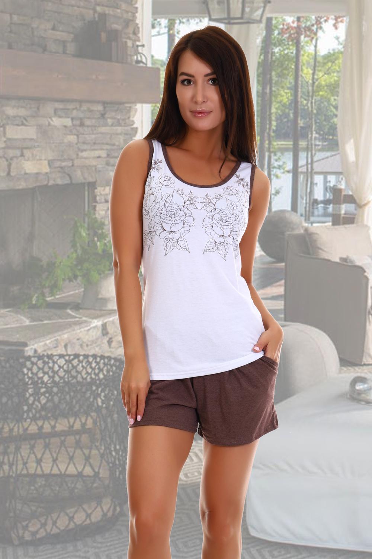 Домашний костюм женский КаВиТекс Ненси белый 52