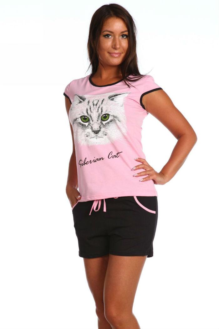 Домашний костюм женский КаВиТекс Эльза розовый 54