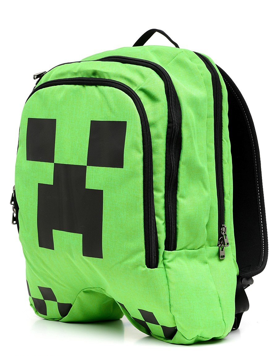 Рюкзак детский LELE Майнкрафт «Крипер» зеленый Lele