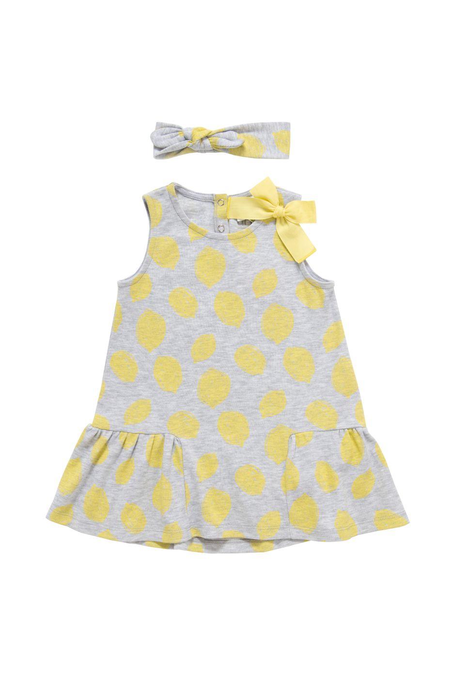Комплект: платье, повязка детский artie, цв. серый, р-р 68