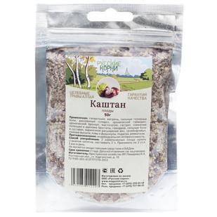 Купить Каштан (плоды) Русские корни 50 г